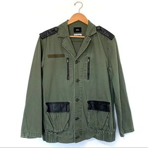 BDG utility jacket olive green coat military